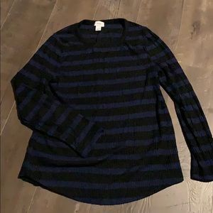 Old Navy black and blue stripe sweater sz lg